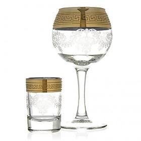 """Bộ MINI-BAR """"BAROQUE"""" 12 món ly cốc thủy tinh cao cấp - 57295"""