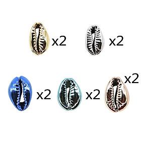 13PCS/Set Hair Braid Rings Shell Pendants Braiding Hair Decoration Dreadlocks DIY Hair Braid Accessories for Women and