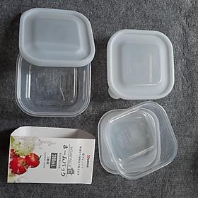 Set 3 Hộp nhựa đựng thực phẩm 380ml Nakaya (nội địa Nhật)