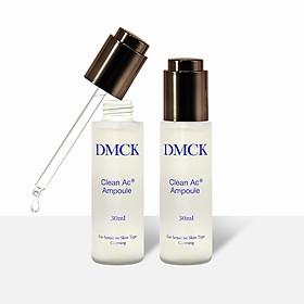 Tinh chất cô đặc dành cho da mụn, Se khít lỗ chân lồng, Giảm mụn rõ rệt, Mềm mịn da - DMCK Clean Ac Ampoule (30ml*2pcs)