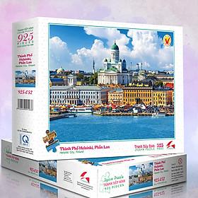 Tranh xếp Hình Tia Sáng Thành Phố Helsinki, Phần Lan (925 mảnh ghép)