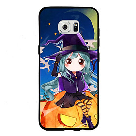 Hình đại diện sản phẩm Ốp lưng Halloween viền TPU cho điện thoại Samsung Galaxy S6 Edge - Mẫu 04