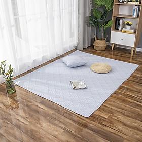 Thảm Cotton Trải Sàn Nhật Bản Trang Trí Phòng Khách Phòng Ngủ Hình Học Trang Nhã