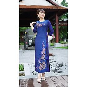 Váy Trung Niên - Đầm Quý Bà thiết kế chất thun kim sa ánh nhũ - thu đông dày dặn cao cấp/Váy cho mẹ - người già (Mã 500)