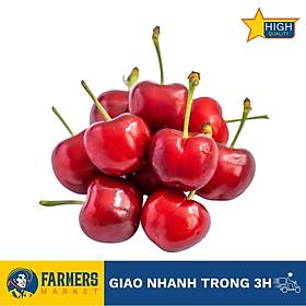 [Chỉ Giao HCM] - Cherry Đỏ Mỹ Size 9 (Hộp 500G) - Cuống tươi xanh, trái đỏ tươi bắt mắt, thịt giòn nhẹ, cherry đầu mùa có vị chua nhẹ