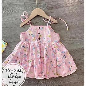 Váy cho bé gái hai dây buộc vai QATE577
