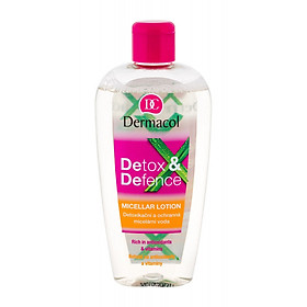 Tẩy Trang Giải Độc Dưỡng Da Dermacol DETOX & DEFENCE MICELLAR LOTION 200ml