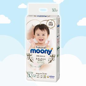 Tã/Bỉm dán Moony Natural Size L- 38 miếng( bé 9-14 kg)