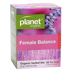 Trà Thảo Mộc Cân Bằng Female Balance Hữu Cơ Planet Organic 25g (25 Túi Lọc)