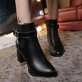 Giày Bốt Nữ Gót Vuông 7,5cm Mã T48