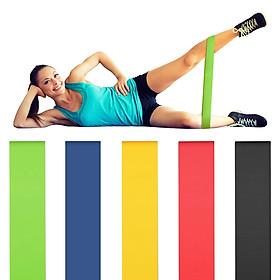 Bộ 5 dây đàn hồi tập gym, dây đàn hồi kháng lực cao cấp, dây đàn hồi tập thể dục tại nhà cho nam và nữ REXCHI