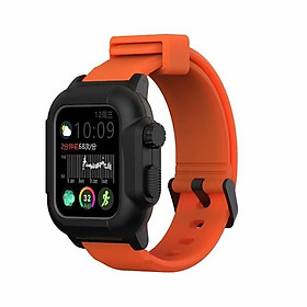 Waterproof Case for Apple Watch Band 4 iWatch Bands Silicone Strap 44mm 40mm Bracelet Smart Watch Accessories