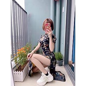 Áo dài sườn xám phong cách cô gái trung hoa