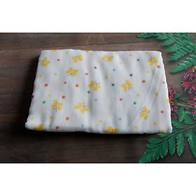 khăn tắm vải gạc/ xô Pure 3 lớp cho em bé có in hình kích thước 75*90
