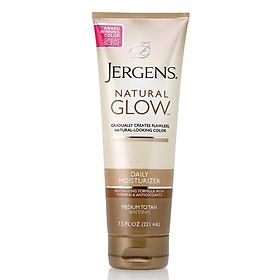 Jergens Natural Glow Daily Moisturiser Medium to Tan Skin Tones 221ml