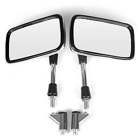motorcycle rearview mirror Retro square rearview mirror For Honda for Kawasaki Bike