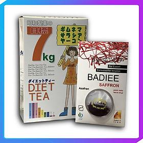 Trà tổng hộp Rooibos-Diet tea 7 Kg-Nhật bản Hộp 30 gói Tặng 1 hộp Nhụy Hoa Nghệ Tây SAFFRON BADIEE