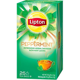Trà Bạc Hà Helium Lipton Peppermint (25 Gói x 1.5g)