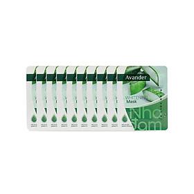 Set 10 gói Mặt nạ giấy dưỡng trắng da tinh chất Nha đam Avander 25gx10