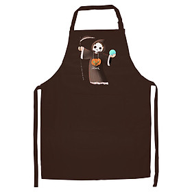 Tạp Dề Làm Bếp In Hình Thần chết - ACNTU004 – Màu Nâu