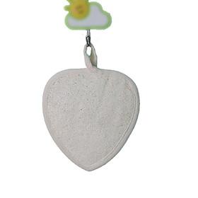 Xơ mướp rửa mặt, tắm rửa tẩy tế bào chết cho da hàng xuất Nhật (XM09) hình trái tim