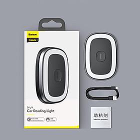 Xiaomi youpin Baseus Đèn đọc sách trên ô tô có thể sạc lại Đèn LED từ tính Tạo kiểu tự động Đèn ngủ Đèn chiếu sáng nội thất ô tô Đèn trần