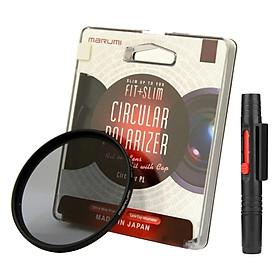 Combo Kính Lọc Filter Marumi Fit & Slim CPL 67mm + Bút Lau Lens - Hàng Nhập Khẩu