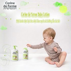 Lotion làm sạch và dưỡng ẩm da cho bé Baby Lotion - Corine de Farme (250ml)