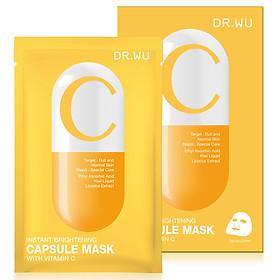 Mặt nạ viên nang trắng sáng tức thì DR.WU-Vitamin C 3 miếng