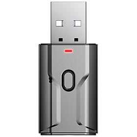 USB Bluetooth Adapter V5.0 Wireless Bluetooth Transmitter Receiver Music Audio For PC TV Car Hands-free 3.5mm AUX Adaptador