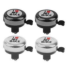4x I Love My Bike Bicycle Bell Alarm Horn Kids Bicycle Bell Bike Accessory