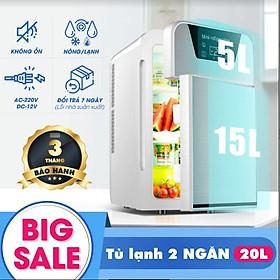 Tủ lạnh mini 20L 2 ngăn có hiển thị nhiệt độ