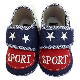 Giày Tập Đi Đế Bệt Baby Sport Bảo Thịnh - Đỏ (13cm)