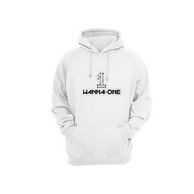 Áo Hoodie Tay Dài Có Mũ Logo Wanna One Kpop