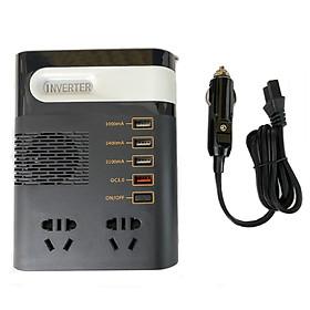 Bộ Chuyển Đổi Nguồn Điện Đa Năng Từ 12/24V Sang 220V Kèm Cổng USB Sử Dụng Đầu Tẩu Ô Tô