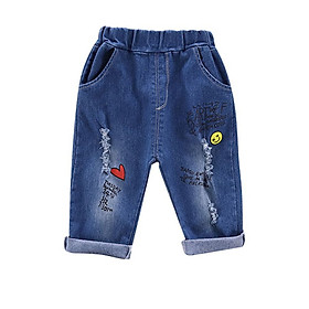 Kids Jeans for Spring and Autumn Children's Wear Girls Autumn New 0-4 Year Old Girls Jeans Casual Pants Girls Jeans