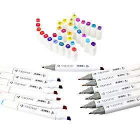 Combo 10 Bút màu dạ TOUCHFIVE 2 đầu cao cấp - giao màu ngẫu nhiên