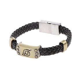 Anime Comic Naruto Leaf Village Logo Konoha Ninja Cosplay Wristband Bracelet