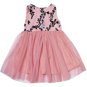 Đầm Dạ Hội Bé Gái Voal Thêu Hoa Cuckeo Kids