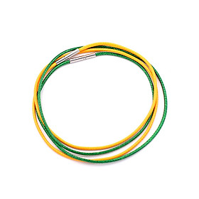 Combo 2 sợi dây vòng cổ cao su - xanh lá + vàng DCSXLV1