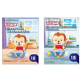 Combo sách Giáo khoa Toán Singapore - MORE THAN A TEXTBOOK 1B: Classroom Mathematics 1B + Workbook 1B (Bộ 2 cuốn/ Tặng kèm Bookmark Happy Life)