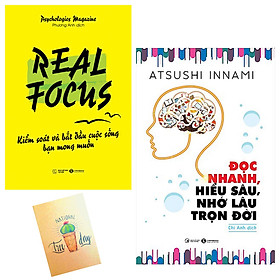 Combo Đọc Nhanh, Hiểu Sâu, Nhớ Lâu Trọn Đời và Real Focus - Kiểm Soát Và Bắt Đầu Cuộc Sống Bạn Mong Muốn ( Tặng Kèm Sổ Tay Xương Rồng)