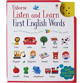 Usborne Listen and Learn First English Words (With Over 120 Words)