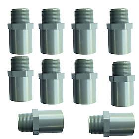 20 nối 21 ren ngoài 21 nhựa pvc cao cấp chuyên dùng nối các béc tưới cây, ống tưới, van có ren trong 21 với ống dẫn pvc phi 21