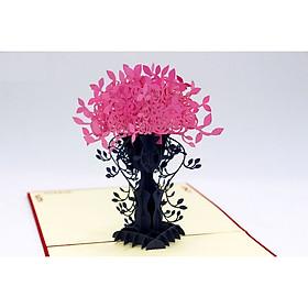 Thiệp 3D - Bình hoa lan tinh xảo - Cảm ơn nhé - L53