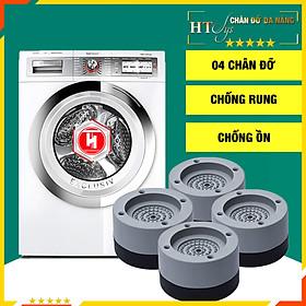 Bộ 04 chân đế cao su đa năng - HT SYS - Đế chống rung máy giặt - Đế chống ồn máy giặt, máy sấy,tủ lạnh, bàn ghế - Giao màu ngẫu nhiên