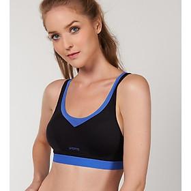 Áo ngực, áo tập Bra thể thao nữ Triumph 228 mút mỏng, không gọng màu đen phối xanh