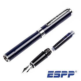 Bút viết máy cao cấp mực đều đẹp màu Xanh đen/ Đen Than chì kim tuyến - HELIX