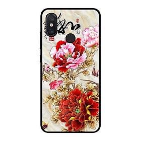 Hình đại diện sản phẩm Ốp lưng dành cho điện thoại Xiaomi Mi 8 Mẫu Đơn Đỏ Hồng
