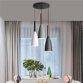 Đèn thả bàn ăn hiện đại 3 bóng nhôm sơn tĩnh điện cao cấp